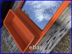 Ancien Miroir Etagere Plastique Orange Vintage Design Pop 70 Space ge Prisunic