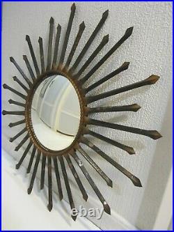 Ancien Miroir Soleil De Sorciere Chaty Vallauris 1960 / Old Sun Mirror/vintage