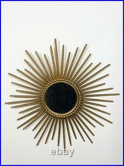Ancien Miroir de sorcière des Années 60's 70's Soleil signé Chaty vallauris
