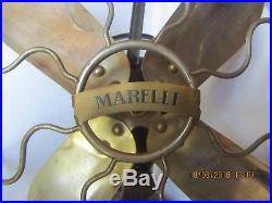 Ancien Ventilateur Marelli art déco industriel vintage usine ventilator