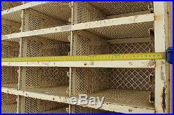 Ancien métal fer TRI POSTAL COURRIER casier industriel meuble métier loft shop