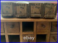 Ancien meuble de metier 18 tiroirs