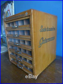 Ancien présentoir de magasin Mercerie Gutermann Soie à Coudre Couture Métier