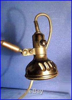 Ancienne Lampe Ajustable De Machine A Coudre Industrielle Singer Slf-3