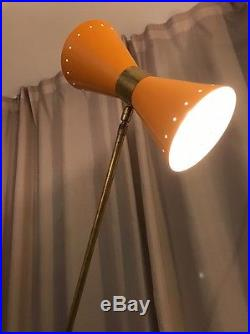 Ancienne Lampe Design Mathieu Diabolo Vintage Moderniste Année 50 / Lacroix