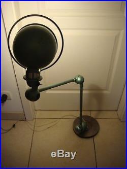 Ancienne Lampe Industrielle JIELDE 2 Bras Verte