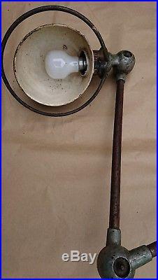 Ancienne Lampe Industrielle Jieldé 3 Bras