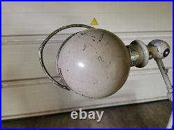 Ancienne Lampe JIELDE 2 Bras Crème # 2 Années 60