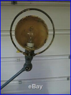 Ancienne Lampe JIELDE 2 Bras Grise Années 60