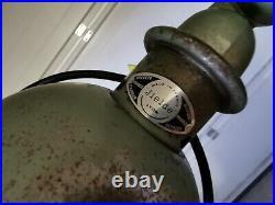 Ancienne Lampe JIELDE 2 Bras Verte # 1 Années 60