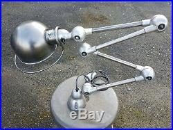Ancienne Lampe Jielde Atelier Industriel Usine Decapee Restauree 4 Bras De 25 CM