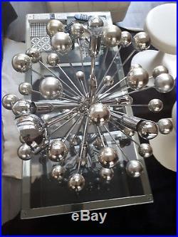 Ancienne Lampe Lustre Vintage Design Spoutnik 5 Feux. Années 60