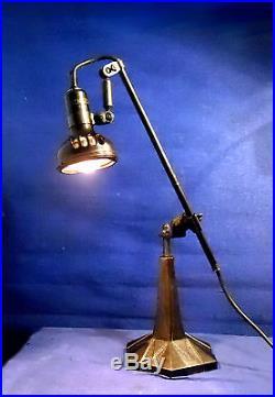 Ancienne Lampe Singer Articulee De Machine A Coudre Industrielle Modele Slf-3