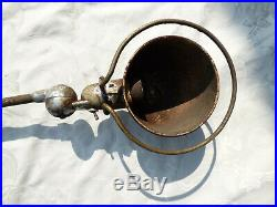 Ancienne Lampe d'Atelier Jielde 2 Bras à Restaurer n°2