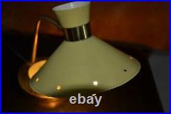 Ancienne Lampe de table diabolo LUNEL Vintage Table Lamp rené MATHIEU 1950