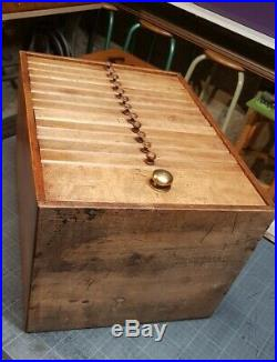 Ancienne Layette d'horloger ancien meuble de métier à Tiroirs Mercerie shabby