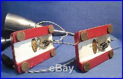 Ancienne Paire De Lampes De Chevet, Bureau, Atelier Ki-e-klair Époque 1950-1960