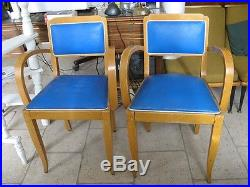 Ancienne Paire de fauteuil Bridge Design années 60