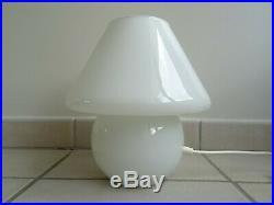 Ancienne lampe champignon VETRI MURANO mushroom glass lamp 1970 memphis milano