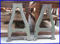 Ancienne paire de pieds pietements industriels en fonte annees 1930
