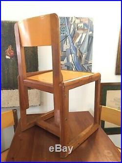 André SORNAY, chaises Circa 1960, design vintage Lyon 50s 60s
