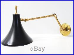 Applique Potence Articulee 1950 Tole Noire Laiton Dore 50's Rockabilly Annees 50