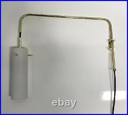 Applique lampe suspension sconce 1950 opaline 50 luminaire potence lamp
