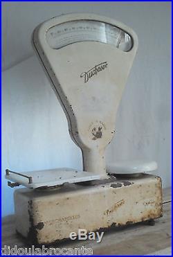 BALANCE d'épicier vintage duchesse TESTUT metal industrielle loft cuisine métier