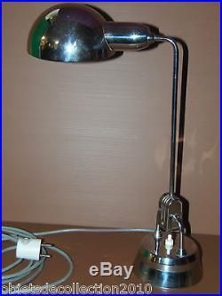 BELLE LAMPE A POSER VINTAGE CHROMEE DESIGN JUMO 600 années 50/60 XXe fonctionne