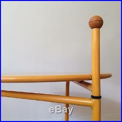 BJÖRKLUND / IKEA Table dappoint Jaune Trolley POSTMODERN Vintage Scandinave 80