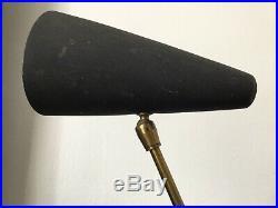 BORIS LACROIX Lampe Cocotte Tripode Noire Années 50 Vintage Lamp Design