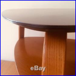 BOW WOOD HUGUES STEINER Coffee Table appoint 60cm Vintage Guéridon Design 1950