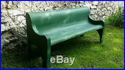 Banc jardin banquette extérieur vintage années 50 60 fibre de verre design