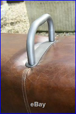 Banquette cheval d'arçon en cuir