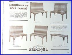 Banquette (s) de bistrot Fischel 1935/40 No Baumann, No Thonet
