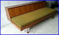 Banquette scandinave canapé lit daybed vintage années 60 70 design Hans Wegner