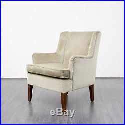 Beau fauteuil cocktail, vintage années 60, velours de mohair, dispo 2