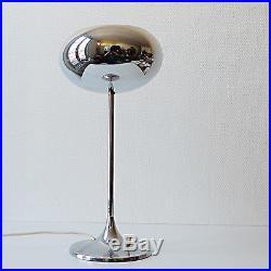 Belle lampe vintage deco design 60 70 metal chromé pied tulipe style knoll