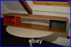 Bibliothèque étagère dans le style Perriand Jeanneret Matégot Guariche Prouve