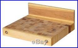 Billot de découpe en bois naturel pour plan de travail 500 x 600 mm 15 kgs