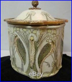 Boite Bijoux Tabac Marabout Oiseau Style Art Deco Style Art Nouveau Ceramique
