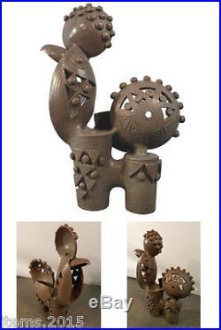 Boleslaw Danikowski Grande Sculpture En Céramique émaillée. France 1950