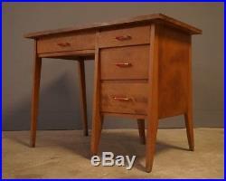 Bureau Vintage 1950 Design Loft Scandinave Moderniste XXe Moderniste Bois Compas