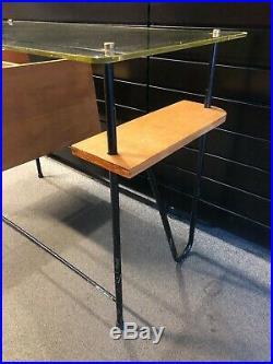 Bureau moderniste Jacques Hitier chêne 1950 design vintage XXème siècle