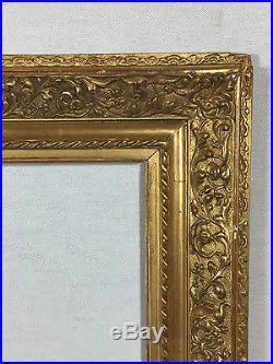 CADRE ANCIEN EN BOIS ET STUC DORÉ POUR PEINTURE DE 54,5 cm x 44,5 cm