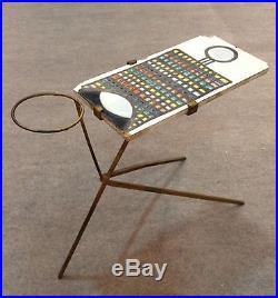 CAPRON, rare, table / nécessaire de fumeur. Vintage design ceramic 50's