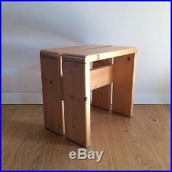 CHARLOTTE PERRIAND / LES ARCS Tabouret Vintage CHALET Stool 1960 Corbusier Chapo