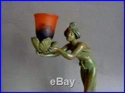 C Bonnefond Et Schneider Lampe Regule Art Nouveau 1900