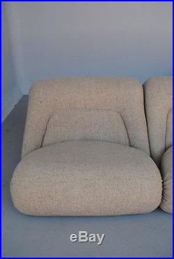 Canapé 1970 en laine dans l'esprit de Pierre Paulin