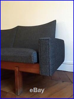 Canapé Sofa Scandinave en Kvadrat Vintage modulable moderniste rare 3 places